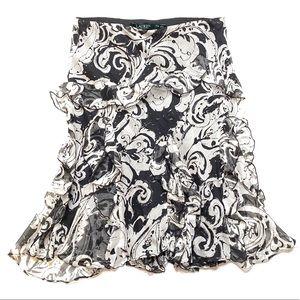 Women's PXS Lauren Ralph Lauren Floral Skirt XS